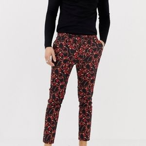 Asos Coral Snake and Chain Print Straight Leg Pant
